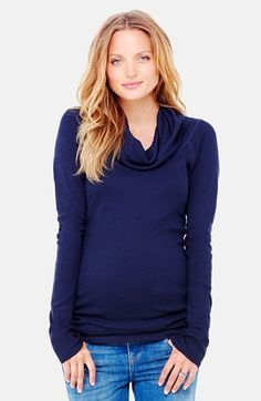 Ingrid & Isabel® Cowl Neck Maternity Tee available at #Nordstrom