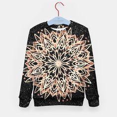 Metallic Mandala Kid's sweater Black Marble Background, Mandala, Metallic, Live, Sweaters, Women, Sweater, Mandalas, Sweatshirts