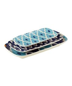 Look at this Blue Nested Plate Set on #zulily today!