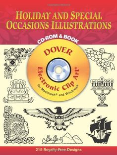 Holiday and Special Occasions Illustrations CD-ROM and Book (Dover Electronic Clip Art) @ niftywarehouse.com #NiftyWarehouse #Halloween #Scary #Fun #Ideas