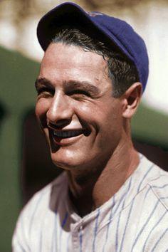 "Lou Gehrig, New York Yankees - ""I consider myself the luckiest man on the face of the earth"". Baseball Fight, Sports Baseball, Rockies Baseball, Basketball, Baseball Cards, Lou Gehrig, Derek Jeter, Famous Baseball Players, Mlb Players"