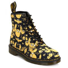 Dr. Martens Black Adventure Time Jake 1460 Castel Boots