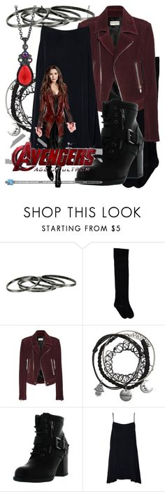 """""""Scarlet Witch"""" by fabulousgurl ❤ liked on Polyvore featuring French Connection, Balenciaga, Betani, 1928, marvel and disneybound"""