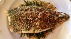 Trout fillets are coated in crunchy seasoned pecans and baked for an easy but elegant seafood dinner. made it for Scott and me and used the Biltmore butter sauce recipe - soooo good! Pecan Crusted Rainbow Trout Recipe, Rainbow Trout Recipes, Fish Dinner, Seafood Dinner, Fish And Seafood, Sauce Recipes, Seafood Recipes, Cooking Recipes, Baked Trout