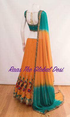 Shop Chaniya choli - handmade chaniya choli , ghaghra choli at afordable price Indian Fashion Dresses, Indian Bridal Outfits, Indian Gowns Dresses, Indian Designer Outfits, Simple Kurti Designs, Choli Designs, Lehenga Designs, Half Saree Lehenga, Indian Lehenga