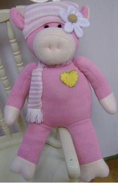 "Sock Pig Doll - Blossom 20"" $14.95  Best of Both worlds.....!!!"
