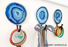 DIY Agate Slice Wall Hook | Desert Domicile