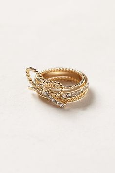 Anthropologie Lassoed Bow Ring