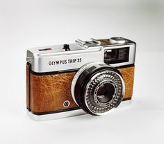 Olympus Trip 35 / Genuine BROWN Leather / by LightBurnPhoto / Street photography /  £44.99