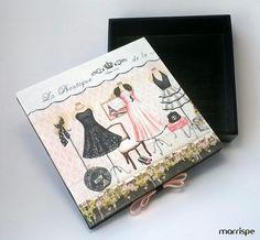 Tutorial novo! Quer aprender a fazer uma caixinha decorada com guardanapo? Vem comigo :)
