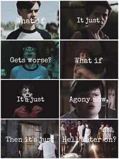 That quote is from teen wolf Best Horror Movies, Scary Movies, Millie Bobby Brown, Annabelle Horror Movie, Er Words, It Movie 2017 Cast, It The Clown Movie, Watch Stranger Things, Im A Loser