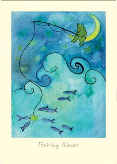 ID7 FISHING BLUES - A Two Bad Mice Card by Anna Shuttlewood