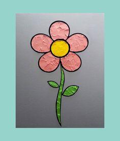 Flower 16 x 20 in. Canvas #LiteralPopArt #PopArt #Art #VisualArt #Flowers #Petals #Nature #Garden Organic #Green #GoingGreen #Guava #Pink #MichaelCrayola #2017