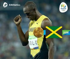 Usain Bolt: Jamaican Sprinter Wins Gold in Men's 100-Meter Final for His 3rd Straight Olympics   Bolt, 29, completed Sunday's race in 9.81 seconds and became the first Olympian to win the event three times in a row. Justin Gatlin of the U.S. won silver and Canada's Andre De Grasse won bronze.