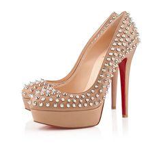 Chaussure Louboutin Pas Cher Pompe Bianca Spikes Nappa 140mm4 #shoesforwomen