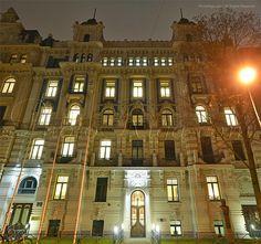 Strēlnieku Street. Art Nouveau building in Riga.