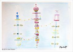 ARTWORK DETAILS   Title: Geometric abstraction 01   Date:  2014   Medium: Watercolor on paper   Dimensions: 100 x 70 cm   http://jgalant.com/paper