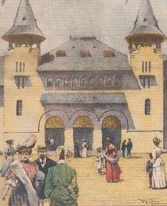 Bucuresti - Palatul Agriculturii de la Expozitia din 1906