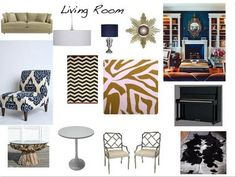 A Living room inspiration board