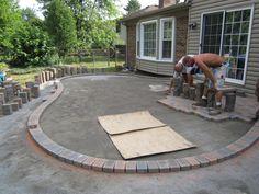 Pavers patio designs with blocks