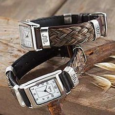 King Ranch - SQUARE FACE HORSE HAIR WATCH