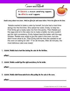 Worksheets for: Reading Comprehension. Printables for Second Grade English Language Arts students, teachers, and home schoolers. Free Reading Comprehension Worksheets, Reading Activities, Reading Skills, Language Arts Worksheets, 2nd Grade Worksheets, Second Grade Writing, Sentence Writing, Cause And Effect Worksheets, Tally Chart