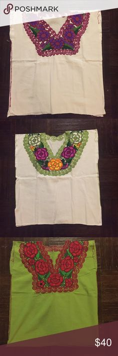 Mexican Blouse Embroided Mexican blouse from Oaxaca Tops Blouses