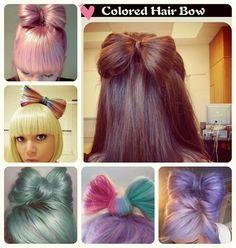 Cute Pastel Bows made from your hair! Sooo kawai! Follow for more great pins :3