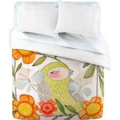 DENY Designs Cori Dantini Fine Comanions Duvet Cover, Queen by DENY Designs. $189.00. Fabric: ultra soft, 100-percent polyester microfiber. Color top: full color, color bottom: white. Metal snaps for closure. Closure: metal snaps seen in snap closure view. Manufacturing: 6 color dye process, custom printed for every order. Turn your basic, boring down comforter into the super stylish focal point of your bedroom with this DENY designs duvet cover. Custom printed when y...