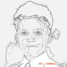 sol y sombra: Tutorial: Turning a photo into an embroidery pattern Portrait Embroidery, Embroidery Applique, Cross Stitch Embroidery, Machine Embroidery, Machine Applique, Embroidery Patterns Free, Quilt Patterns, Embroidery Designs, Thread Painting
