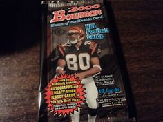 2000 Bowman Football Hobby Pack Snack Recipes, Snacks, Football Cards, Pop Tarts, Packing, Snack Mix Recipes, Bag Packaging, Appetizer Recipes, Soccer Cards