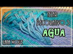 TELAR DECORATIVO PAISAJE 1 Paso a Paso. Wall hanging. Wandteppich. Tutorial Lana Wolle - YouTube
