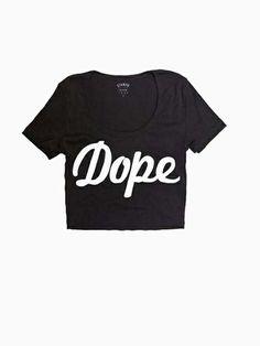 Black Dope Crop T-shirt