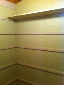 Once Upon a Cedar House: How to Install Pantry Shelves – pantry redo Wire Closet Shelving, Pantry Shelving, Closet Shelves, Pantry Storage, Pantry Laundry Room, Pantry Closet, Walk In Pantry, Kitchen Pantry, Man Closet