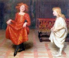 Thomas Cooper Gotch  The Dancing Lesson