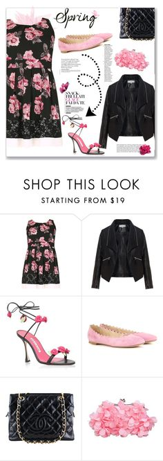 """""""Spring Florals Day to Night in Plus Size"""" by feelgood35 ❤ liked on Polyvore featuring Samya, Zizzi, Chloé and Chanel"""