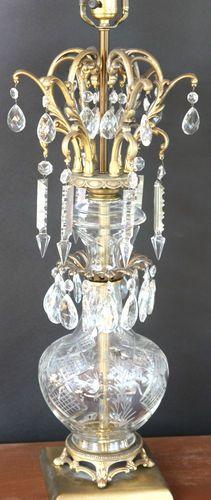 Pair of West German Vintage Large Crystal Table Lamp Lamps Hollywood Regency | eBay