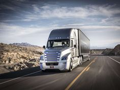 The First Street Legal Self Driving Truck , - , The Freightliner...