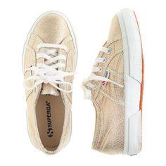 J.Crew - Girls' Superga® lamé sneakers