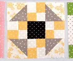 Back to School with Pam Kitty: Row 4 - Fat Quarter Shop's Jolly Jabber: pinning this because I love the fabric/color combination