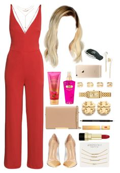 """18 July, 2015"" by jamilah-rochon ❤ liked on Polyvore featuring H&M, L. Erickson, Gianvito Rossi, Forever 21, MICHAEL Michael Kors, Aéropostale, Maison Margiela, Coach, Tory Burch and Victoria's Secret"