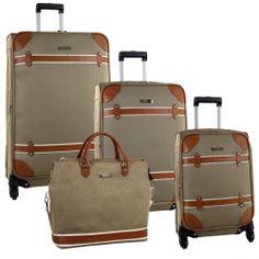 Anne Klein Vintage Four Piece Luggage Set 2770P03 - Luggage Pros