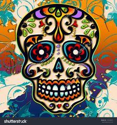 Sugar Skull - Mexico - Dia De Los Muertos - Day Of Dead Stock ...