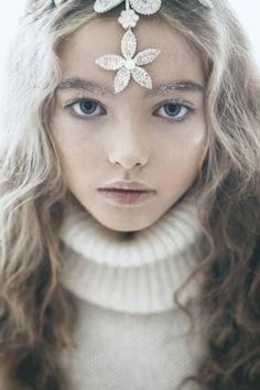Russian child model Anastasia Bezrukova.