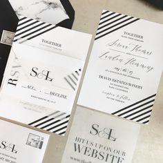 Serena Wedding Invitation Suite with Vellum Insert  Band