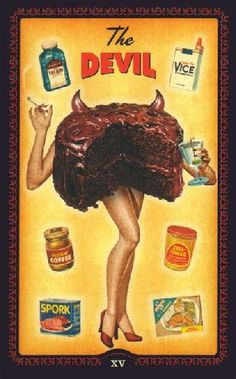 The Devil from the very retro Housewives Tarot!