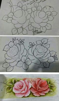 Pencil Drawings, Art Drawings, Paint Shirts, Flower Shirt, Flower Template, Applique Quilts, Fabric Painting, Art Tutorials, Watercolor Art