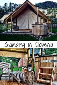 you must visit Garden Village in Bled, Slovenia Did you know you can go or stay in a tree house in Lake Bled, Details here!Did you know you can go or stay in a tree house in Lake Bled, Details here! The Places Youll Go, Places To Go, Camping Europe, Slovenia Travel, Visit Slovenia, Lake Bled, Up House, European Travel, The Good Place