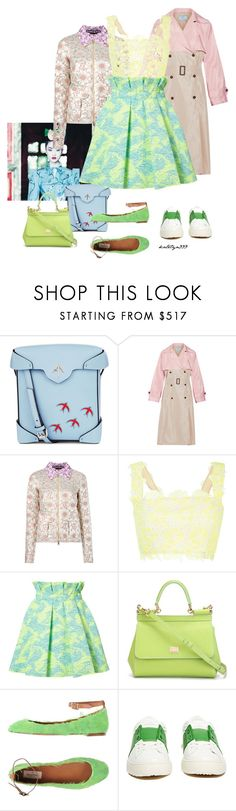 """Sunny ..."" by katelyn999 ❤ liked on Polyvore featuring MANU Atelier, Prada, Rochas, Monique Lhuillier, MSGM, Dolce&Gabbana and Valentino"