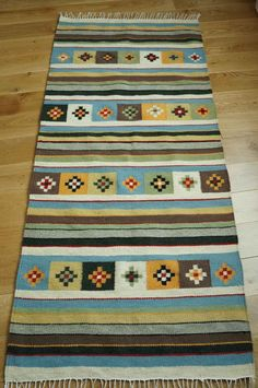 For someone who appreciates gifts for the home. Handmade Natural Romanian Rug carpet kilim tapestry - hand woven vegetable dyes wool